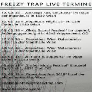 Live Termine 2018